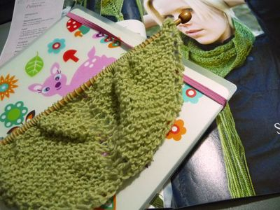Sea wool scarf