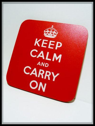 Keep calm coaster