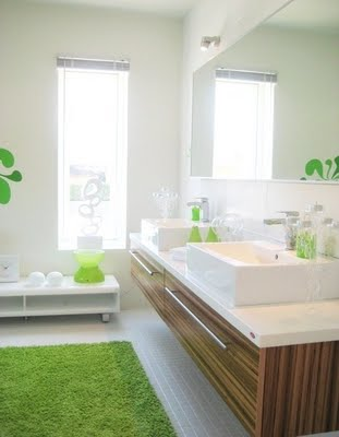 Green bathmat