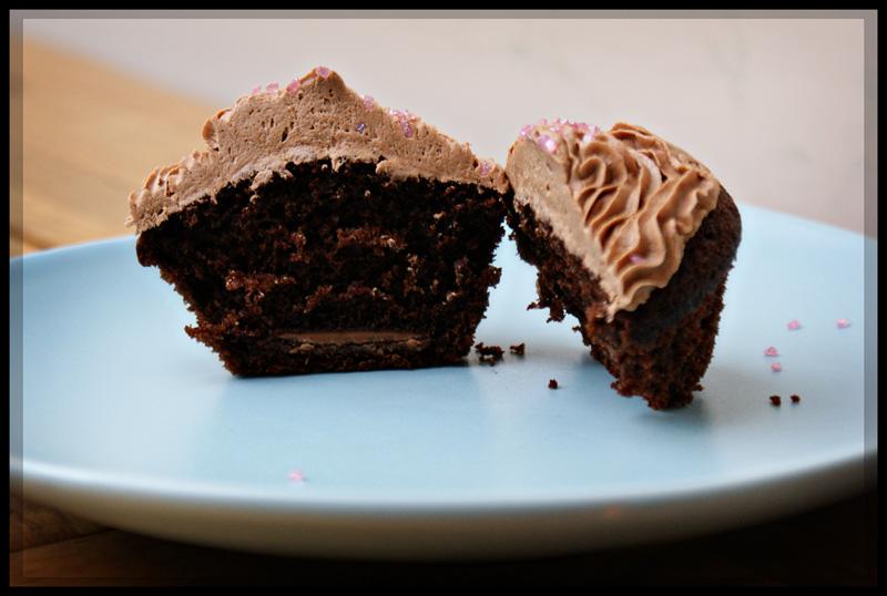Inside mocha cupcake