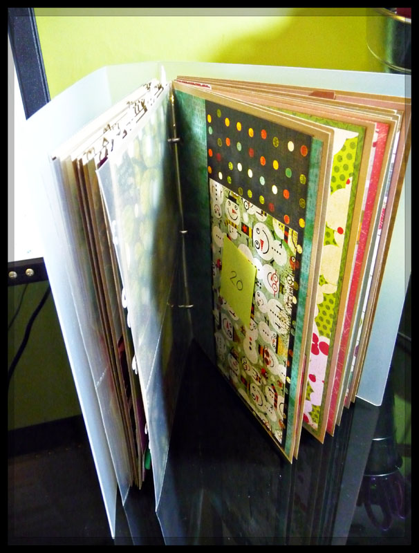 Christmas Journal foundations done
