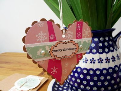 Craft Stamper heart tag
