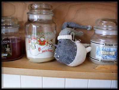 Christmas candle cupboard