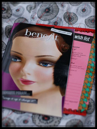 Benefit Christmas catalogue