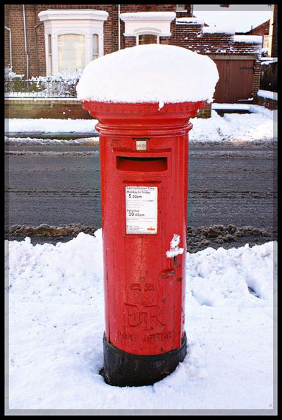 Snow postbox