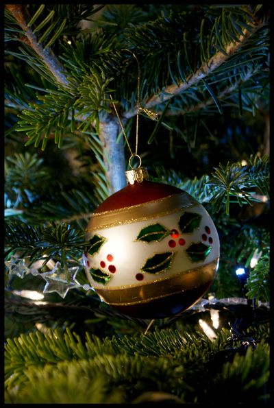 Holly bauble