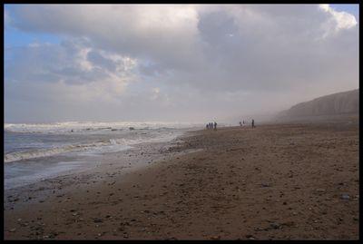 FramedWintry beach