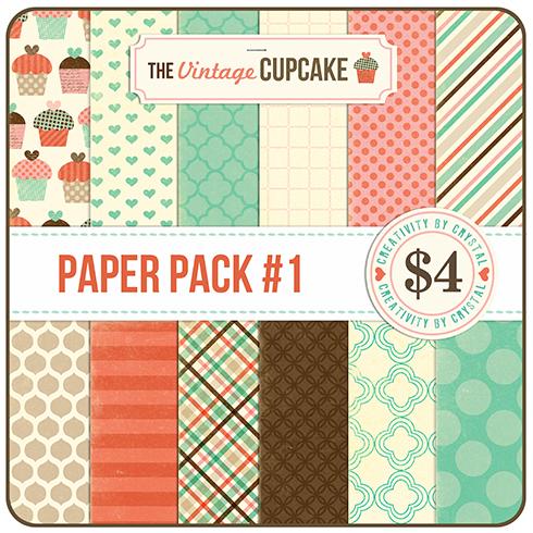 Vintage cupcake papers