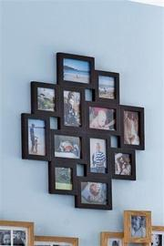 Brown collage frame