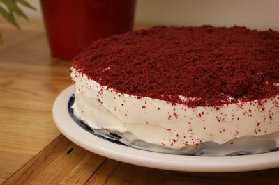 Red Velvet Cake before