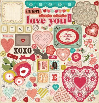 Crate paper heart collection