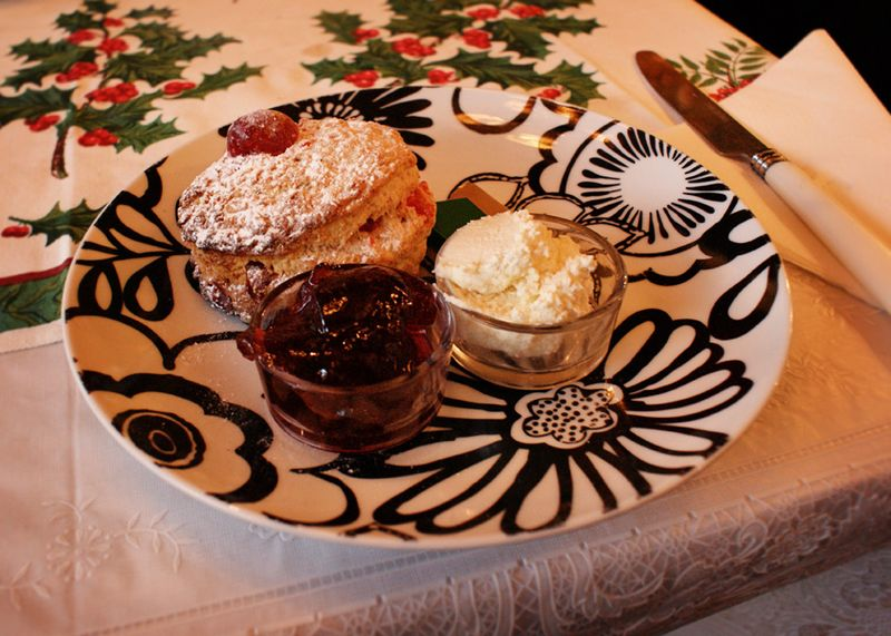 Cherry almond scone