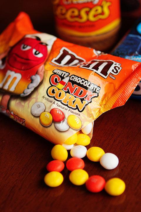 Candy corn M&Ms