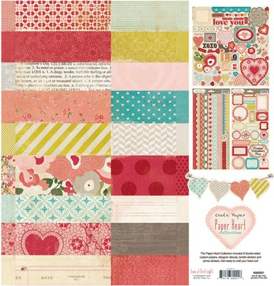 Crate paper heart collection pack