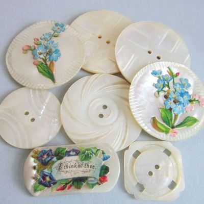 2013-06-13 - vintage mother of pearl buttons