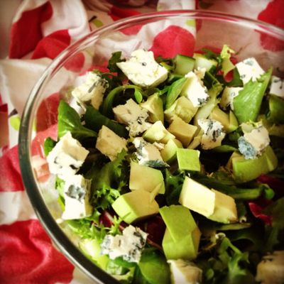 Pear, St Agur and avocado salad_sm