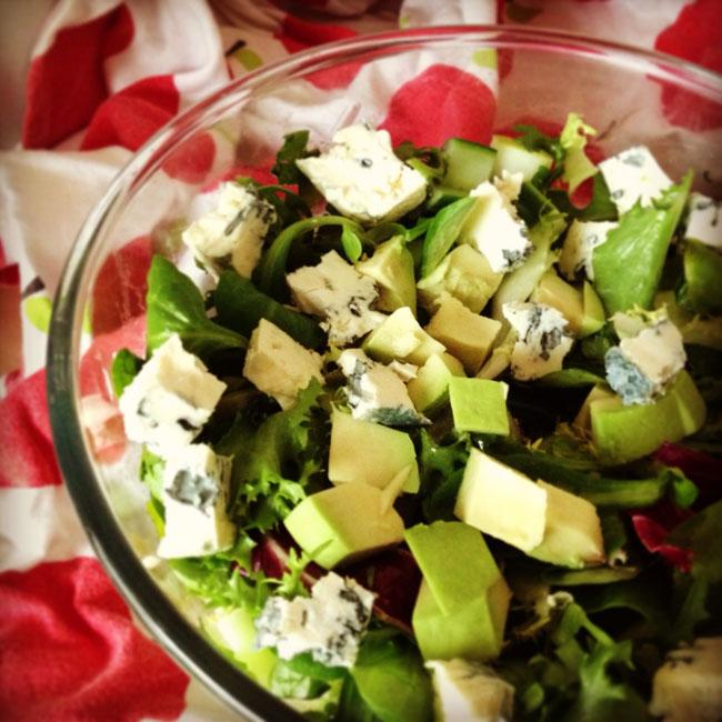 Pear, St Agur and avocado salad_sm