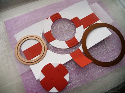 How to may your DIY rubber ring from cardstock scraps