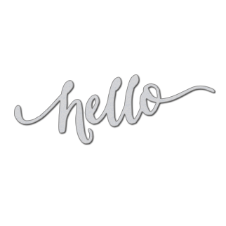 WPlus9 - hand lettered hello die