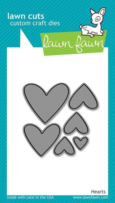 Lawn Fawn  - hearts dies