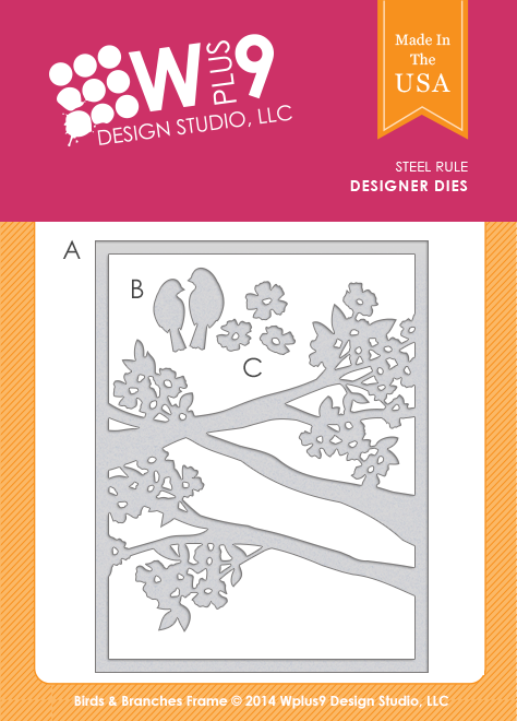 Wplus9 - Birds and branches frame