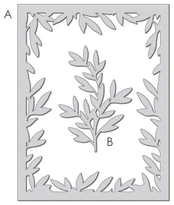 Wplus9 - foliage frame die
