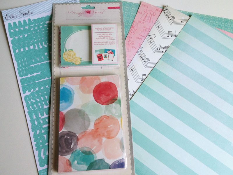 Styleboard journaling cards and paper restock