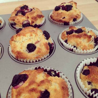 Eggless blueberry muffins_sm