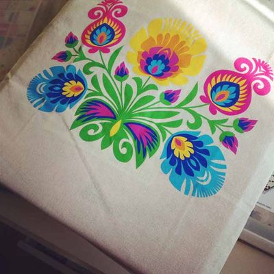 Crafty Polish folk tote_sm