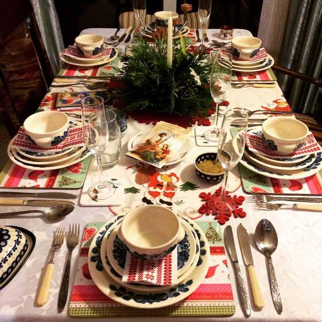Christmas Eve table is set_sm