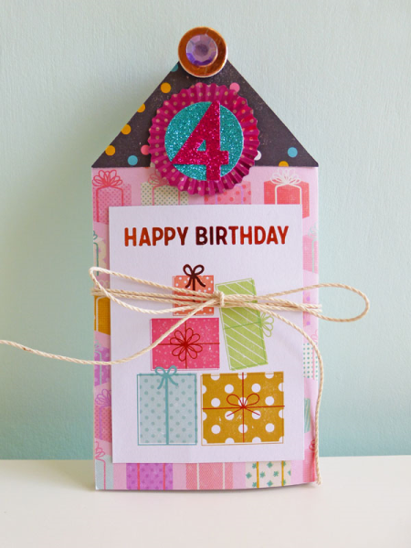 Happy 4th birthday concertina card - 2016-09-20 - koolkittymusings.typepad.com