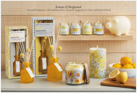Next lemon and bergamot home fragrance