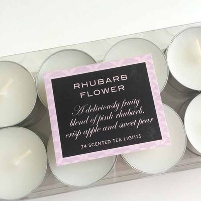 Rhubarb flower tea lights_sm