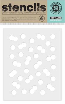 Hero Arts Bubble Confetti stencil