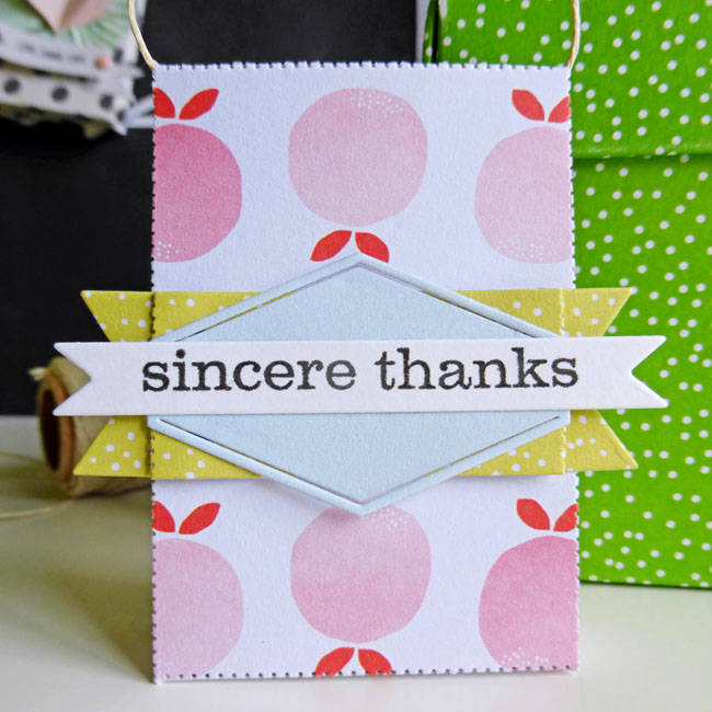 Tag set - sincere thanks