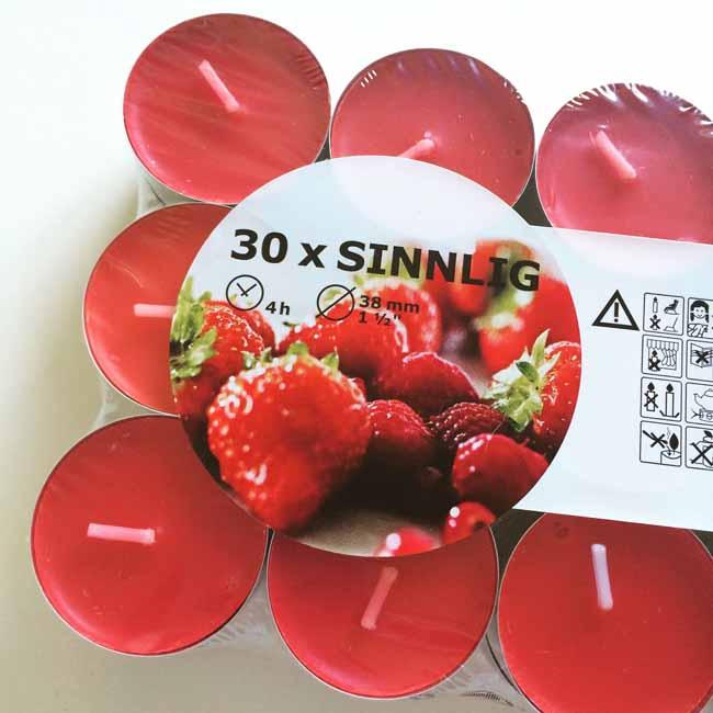 Ikea strawberry tealights_sm