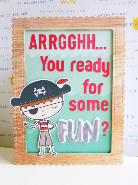 Pirate birthday card - 2016-07-24  - koolkittymusings.typepad.com using Elle's Studio Sunny Days
