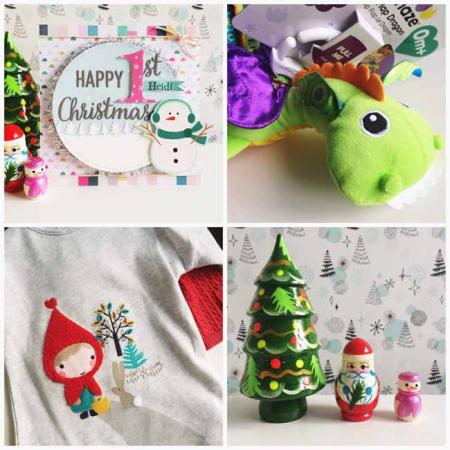 Festive spoils for little miss