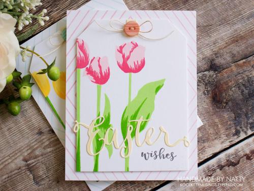 Pink Easter tulips - 2019-04-19 - koolkittymusings.typepad.com