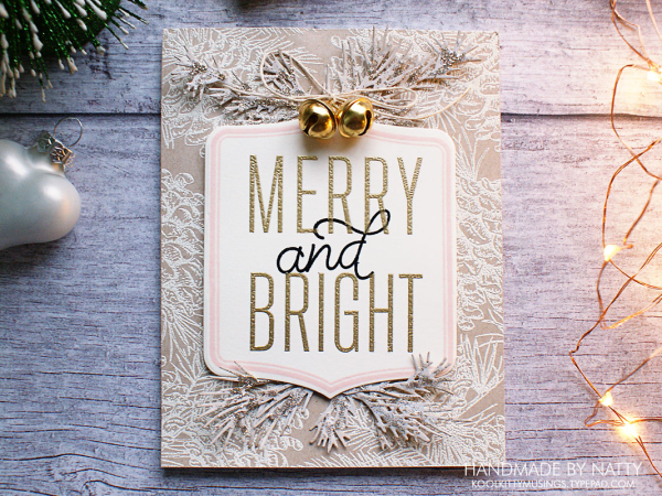 Merry & Bright pinecones - 2019-11-22 - koolkittymusings.typepad.com