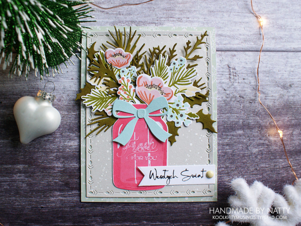 Festive florals - Christmas Countdown Day 29 - koolkittymusings.typepad.com