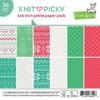 Lawn Fawn - Knit Picky 6x6 paper pad