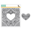 Simon Says Stamp - Center Cut Heart background stamp