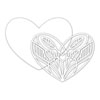Simon Says Stamp - Deco Heart dies