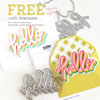 The Stamp Market - Stacked Hello stamp and die bundle