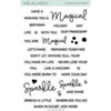 Hello Bluebird - Sparkles Script stamps