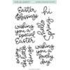 Hello Bluebird - Spring Banner Script stamps