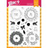 WPlus9 - Woodland Wreaths stamps (r)