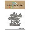 Paper Smooches - Birthday Words dies (r)
