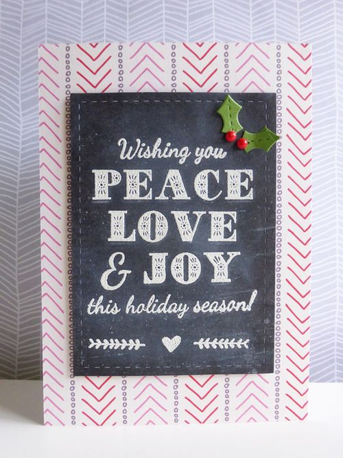 Peace, Love & Joy chalkboard - 2015-11-06